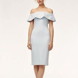 Aritzia Babaton Ruslan Baby Blue Dress